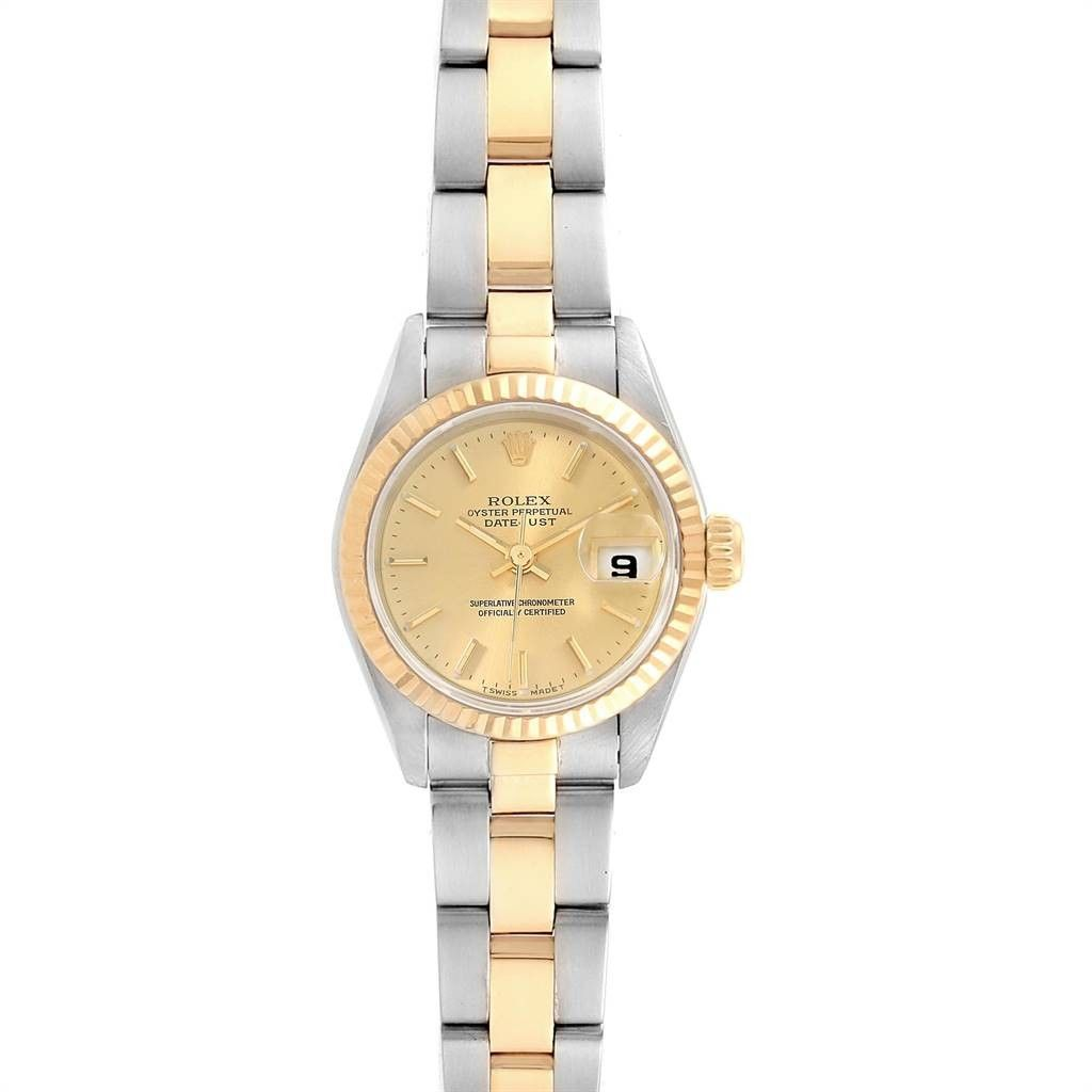 Rolex DATEJUST 26 STEEL YELLOW GOLD OYSTER BRACELET LADIES WATCH 69173