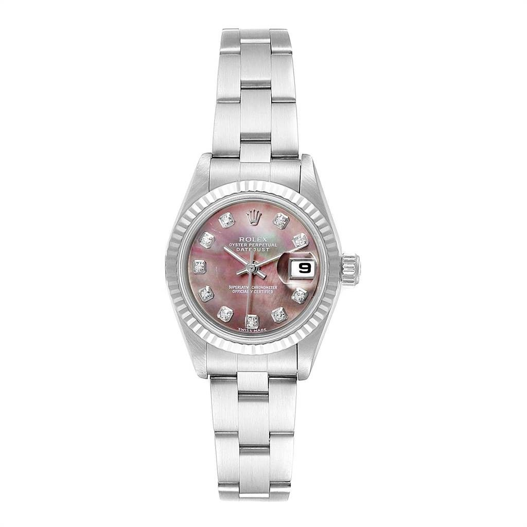 Rolex DATEJUST MOTHER OF PEARL DIAMOND LADIES WATCH 79174 BOX PAPERS