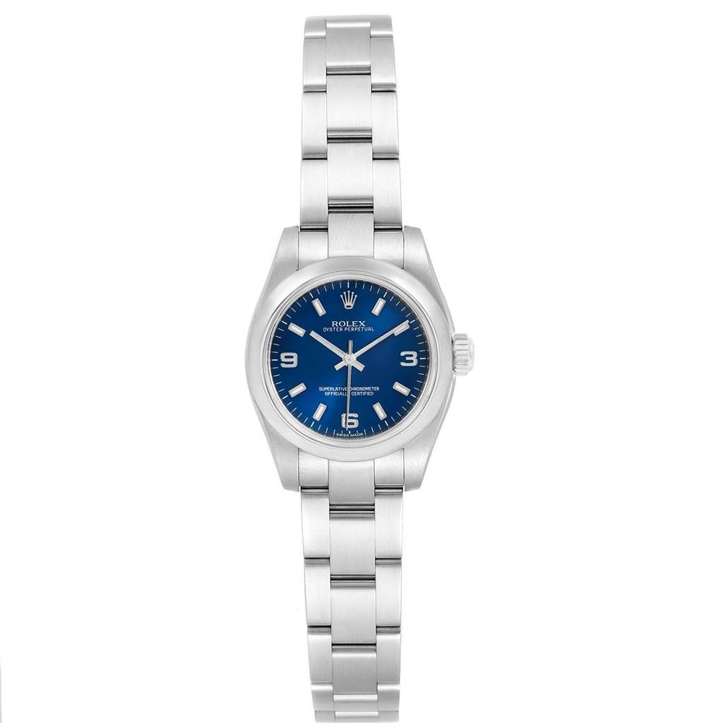 Rolex Oyster Perpetual Nondate Blue Dial Ladies Watch 176200