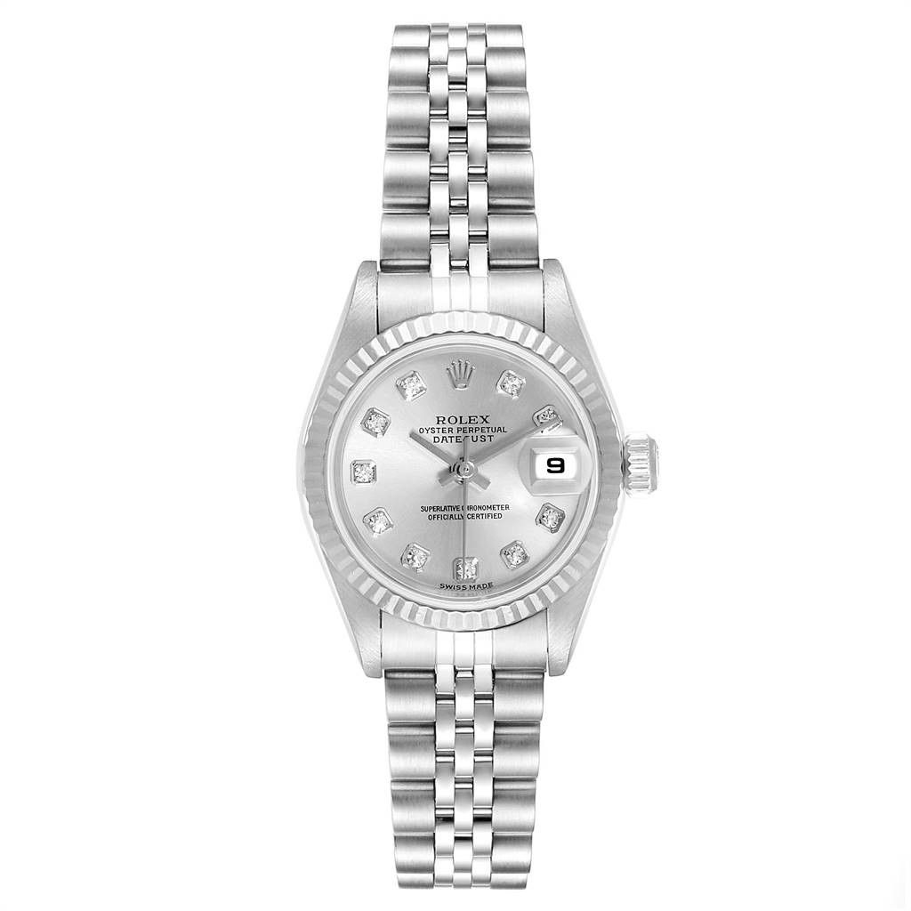 Rolex Datejust Steel White Gold Diamond Ladies Watch 79174 Box Papers