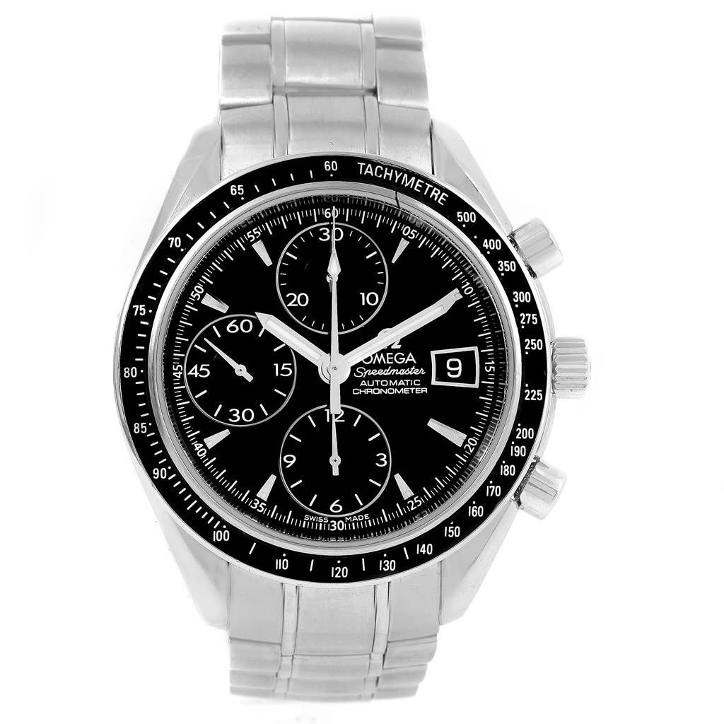 Omega SPEEDMASTER BLACK DIAL AUTOMATIC MENS WATCH 3210.50.00 CARD