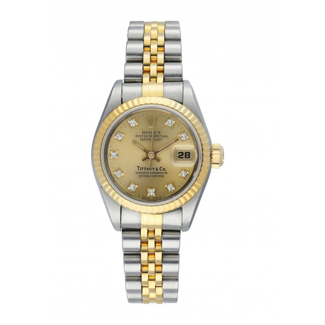 Rolex Datejust 69173 Tiffany Dial Ladies Watch