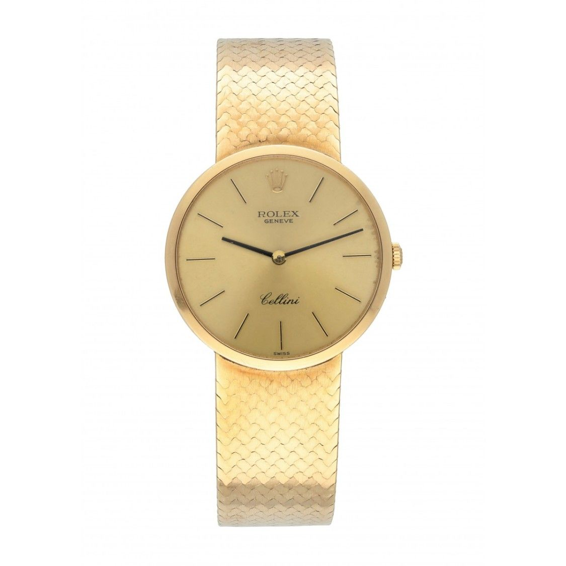 Rolex CELLINI 18K YELLOW GOLD LADIES WATCH