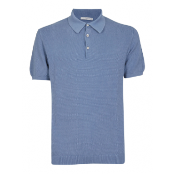 Dyed Blue Polo Shirt