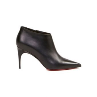 Leather Ankle Boot 'Gorgona' Black