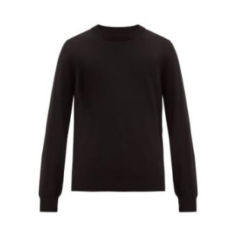 Suede Elbow-Patch Cotton-Blend Jersey Sweater