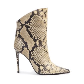 Beige Vanity 110 Python Leather Ankle Boots