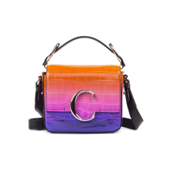 Leather Sunset Crossbody Bag