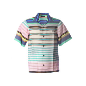 Multicolored Striped Bowling Shirt