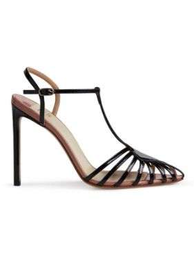 Cutout Patent Leather Sandals