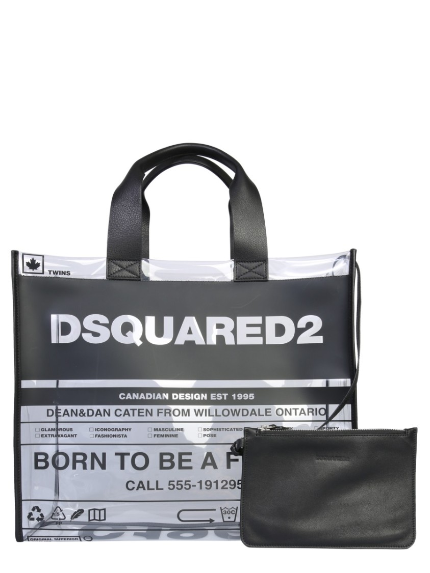 Dsquared2 BLACK POLYESTER TOTE