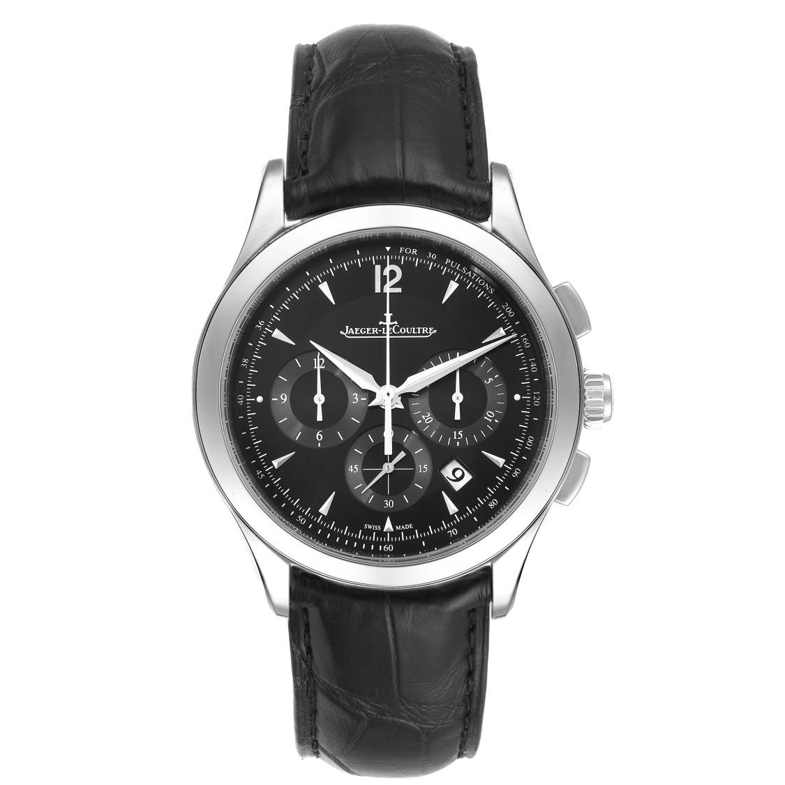 Jaeger-lecoultre Master Chronograph Mens Watch Q1538470 Box Papers In Not Applicable