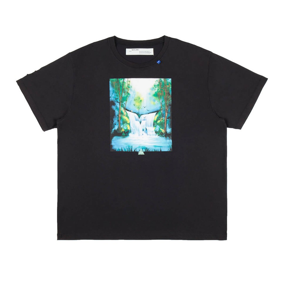 Off-White Waterfall T-Shirt In Black