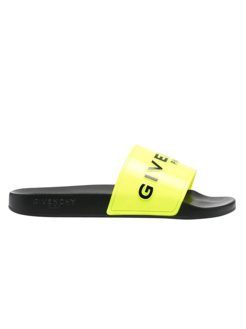 Givenchy FLUORESCENT YELLOW SLIDES