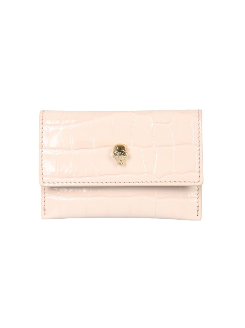 Alexander Mcqueen Cardholders Nude Leather Card Holder