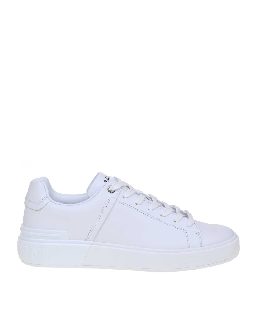 Balmain B-COURT SNEAKERS IN WHITE COLOR LEATHER