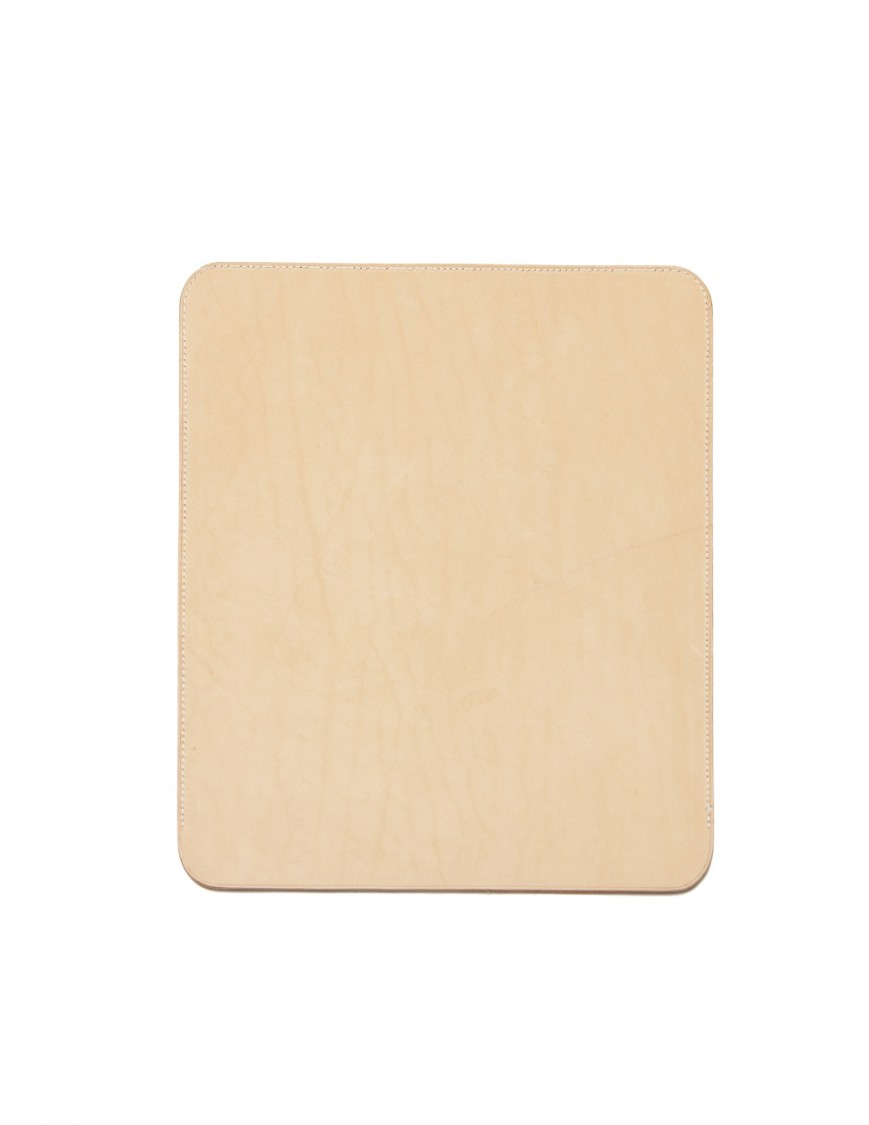 Isaac Reina Leather Ipad Case In Neutrals