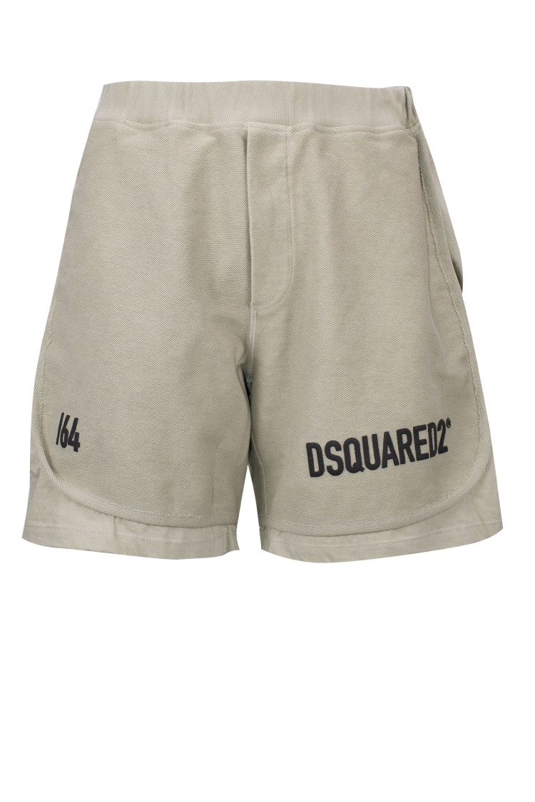 Dsquared2 Logo-print Track Shorts In Green