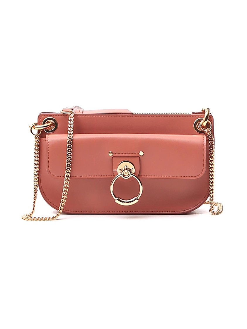 Chloé Tess Mini Pink Leather Shoulder Bag