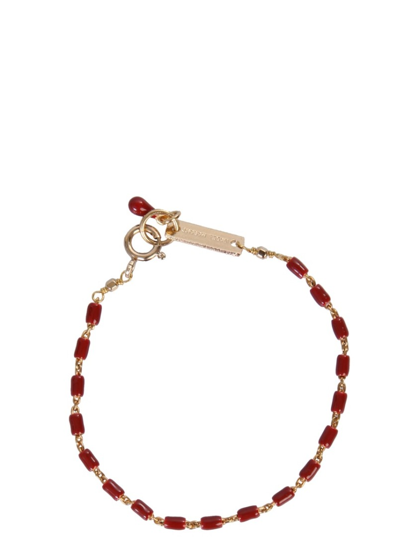 Isabel Marant CASABLANCA RED BRASS BRACELET