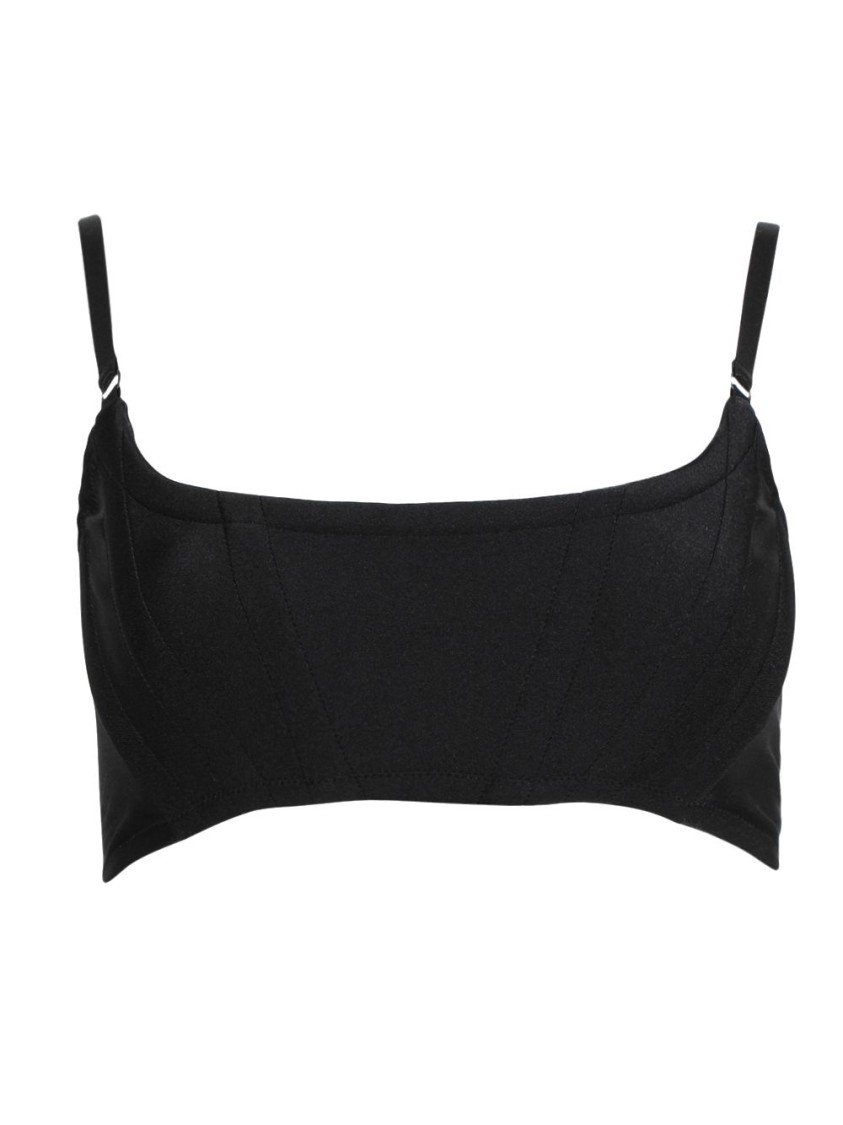 Alexander Wang CROPPED CORSET BRA WITH ADJUSTABLE STRAPS