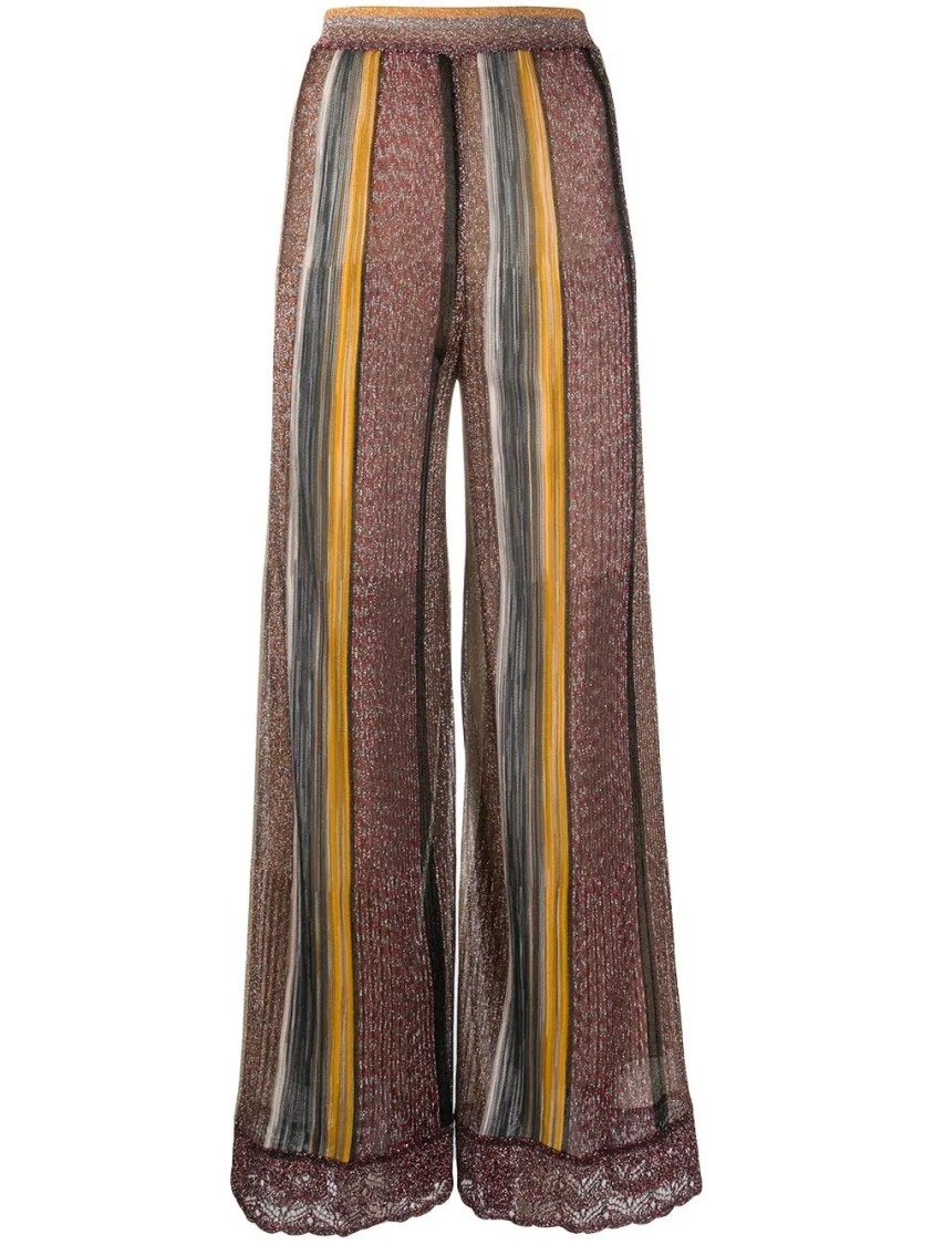 Missoni STRIPED PALAZZO TROUSERS