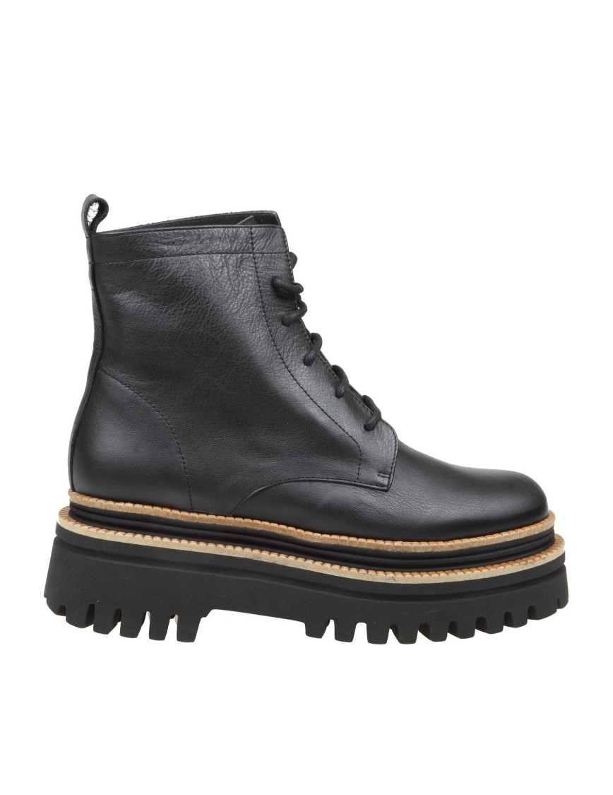 Paloma Barceló FETHI ANKLE BOOT IN BLACK NAPPAEATHER