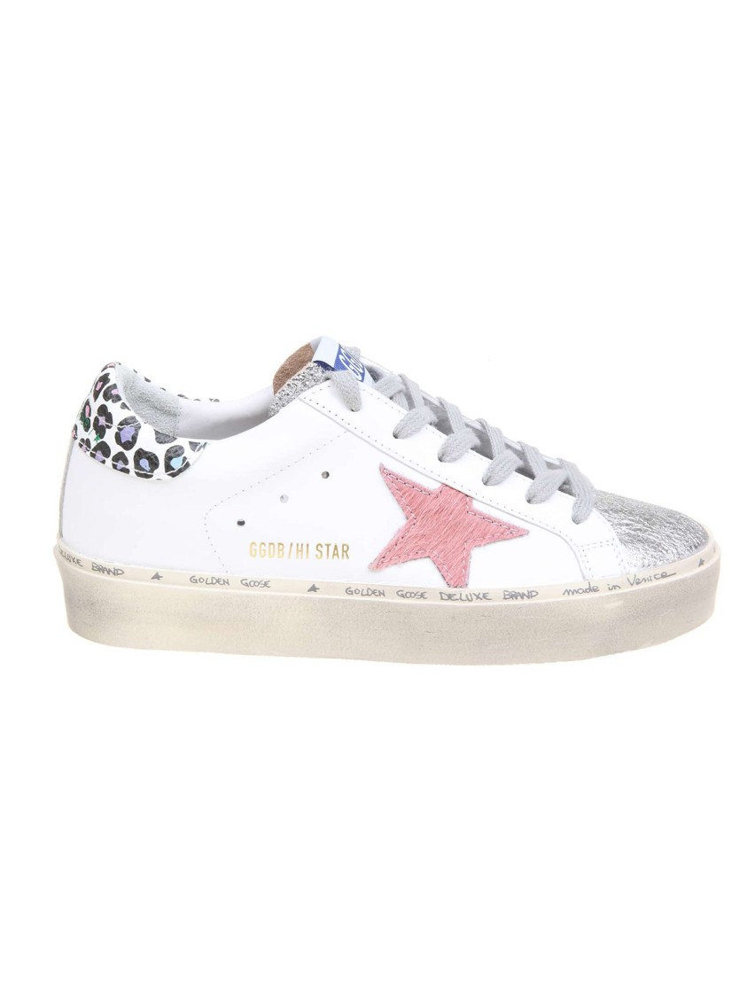 Golden Goose HI STAR WHITE LEATHER SNEAKERS