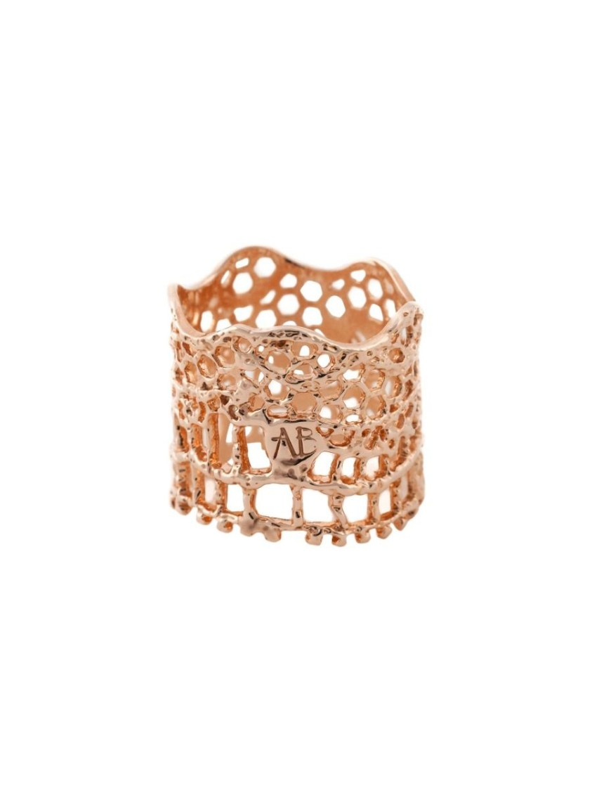 Aurelie Bidermann LACE BAGUE ROSE GOLD RING