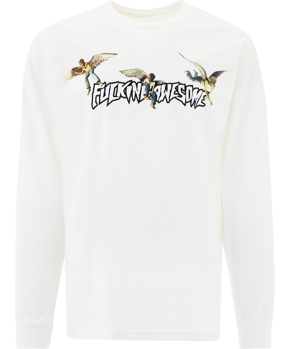 Fucking Awesome T-shirts WHITE COTTON SWEATSHIRT