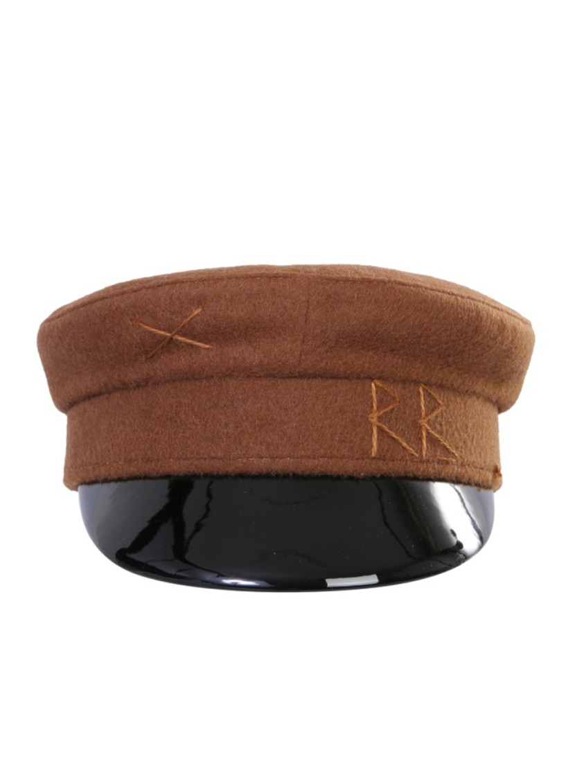 RUSLAN BAGINSKIY BAKER BOY BROWN WOOL HAT