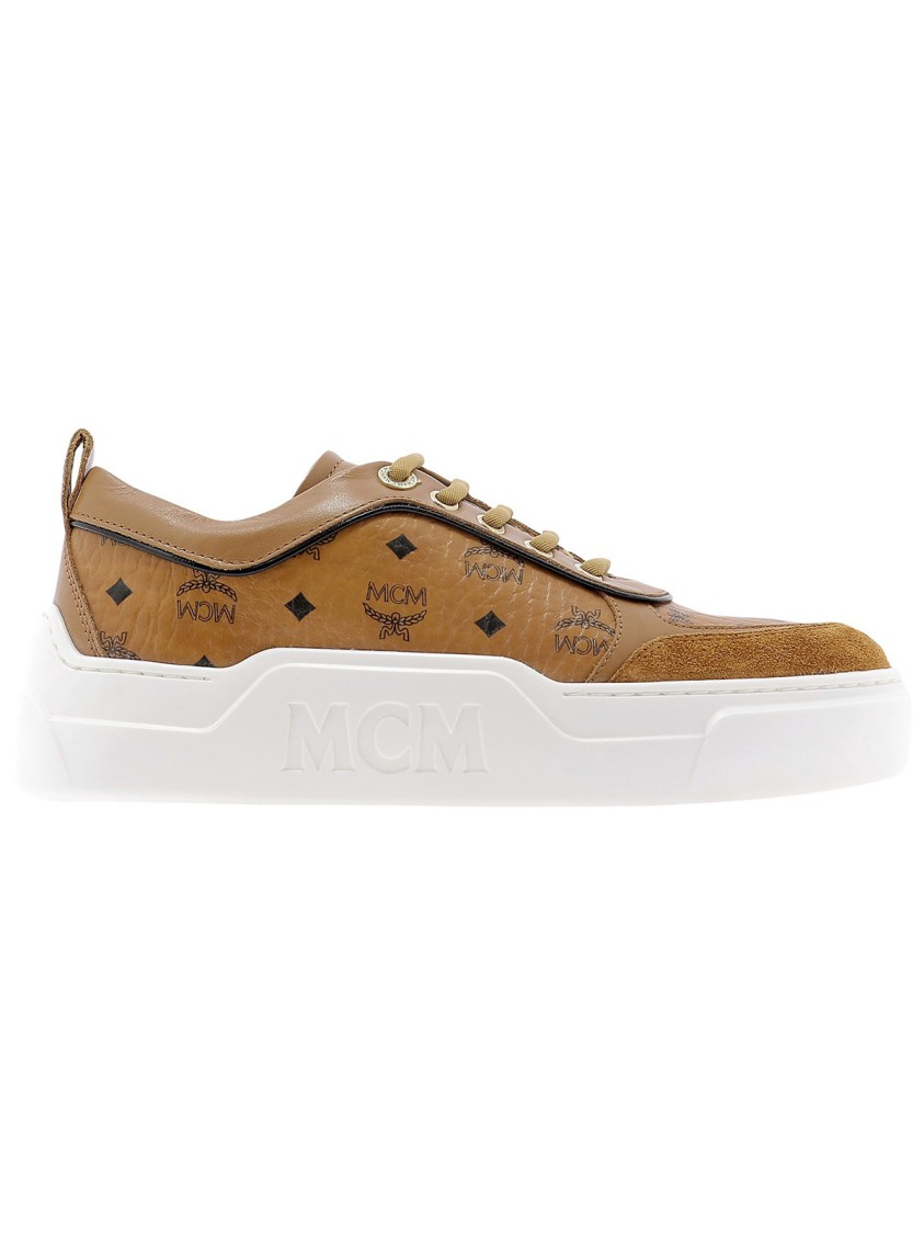 Mcm BROWN LEATHER SNEAKERS