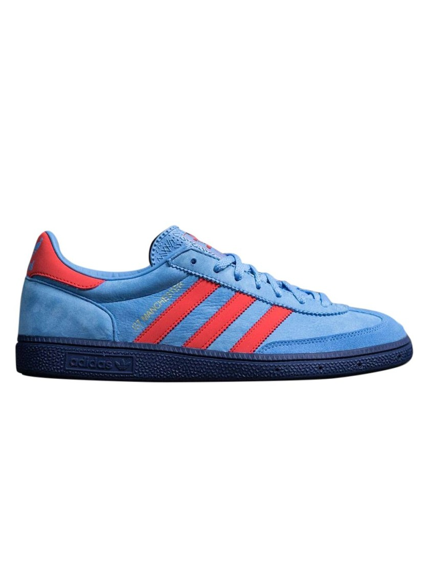 X New Order Blue And Red Manchester Sneakers