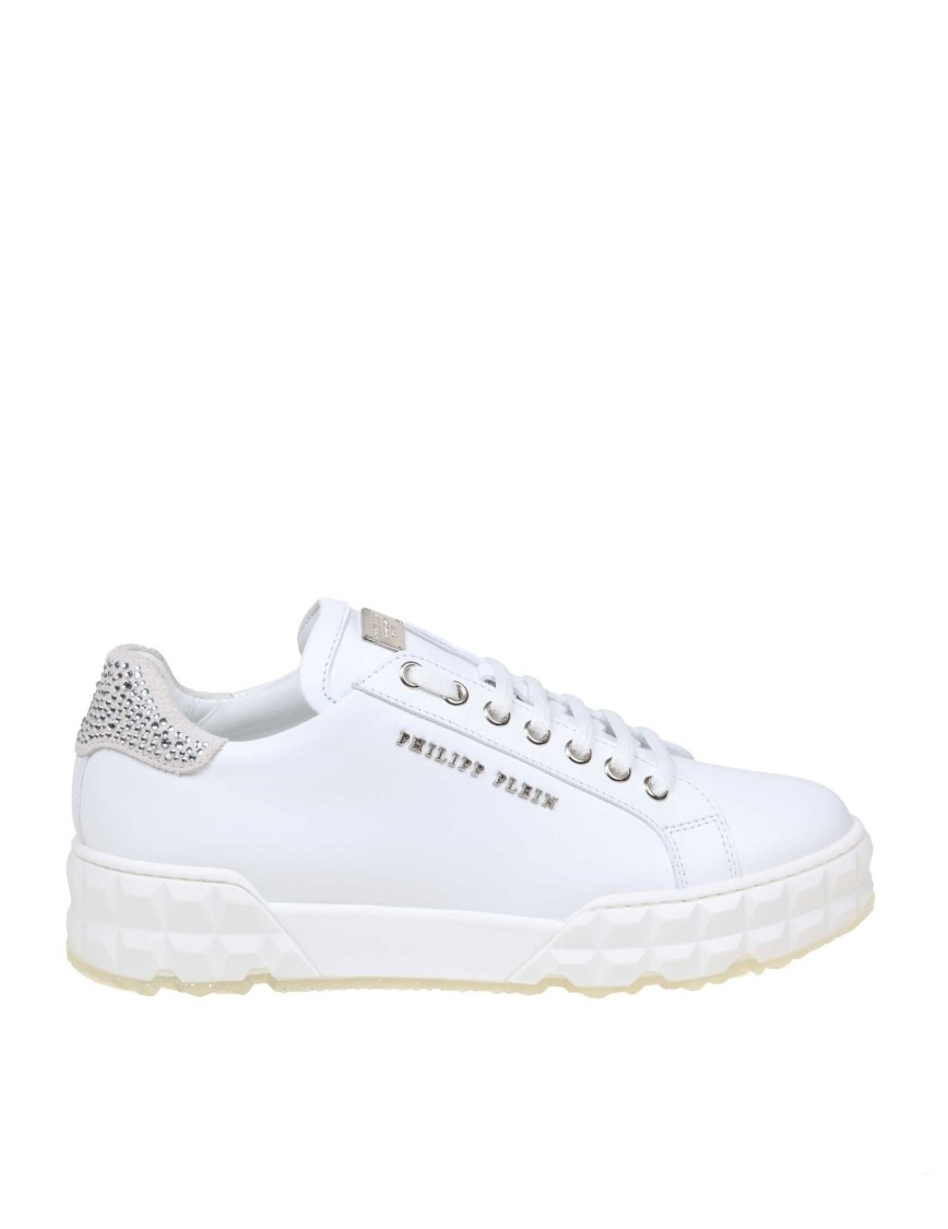 Philipp Plein PHILIPP PLEIN SNEAKERS LO-TOP STATEMENT IN WHITE COLOR LEATHER