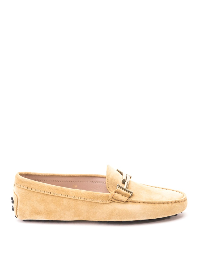 Tod's Loafers DOUBLE T YELLOW SUEDE LOAFERS