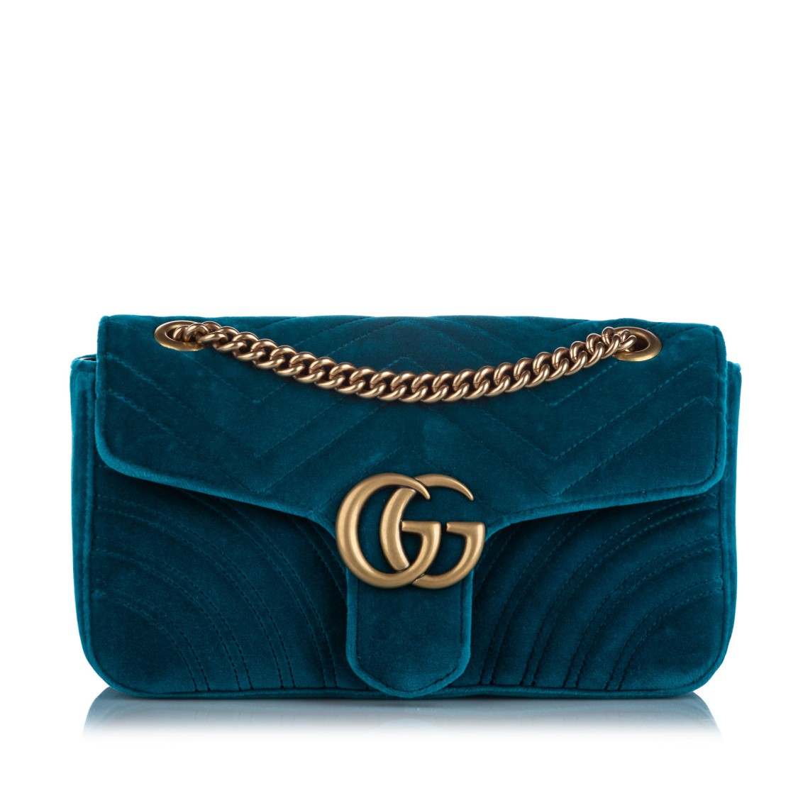 Gucci SMALL GG MARMONT VELVET SHOULDER BAG