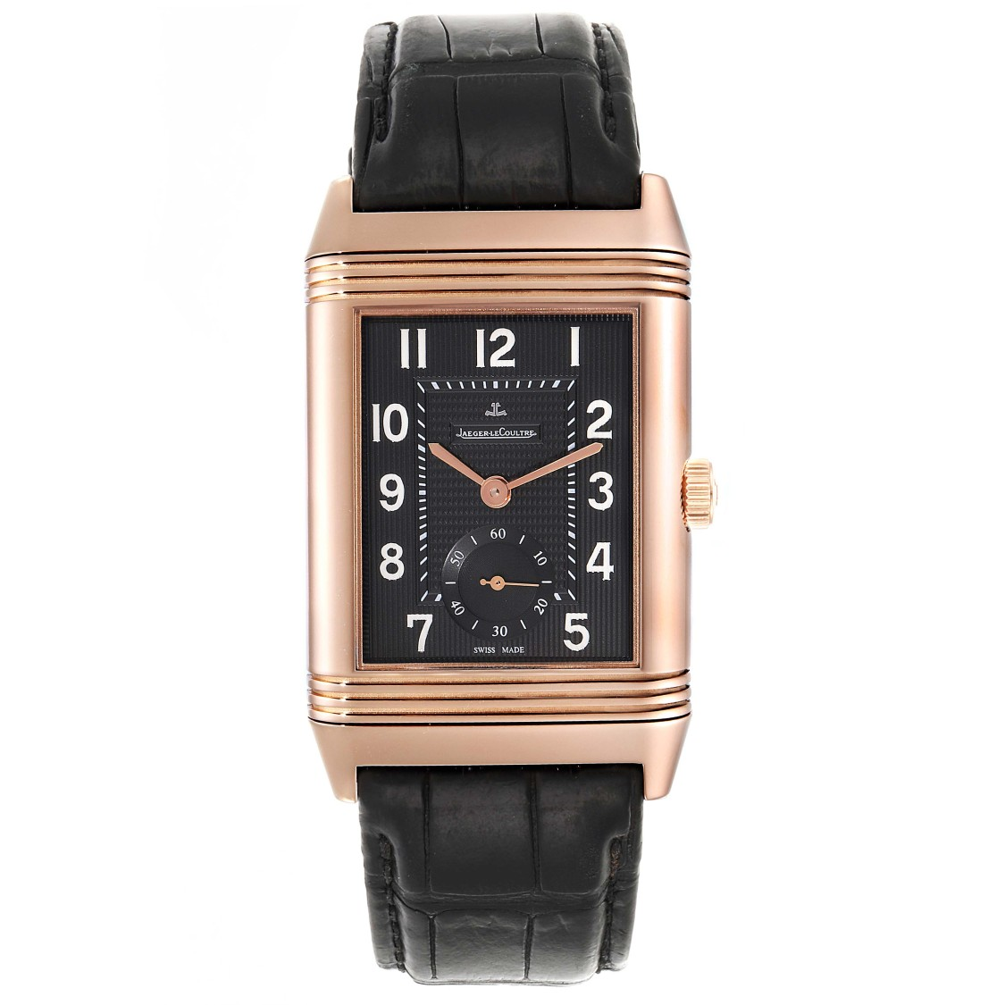 Jaeger-lecoultre Grande Reverso 976 Rose Gold Watch 273.2.04 Q3732470 In Black