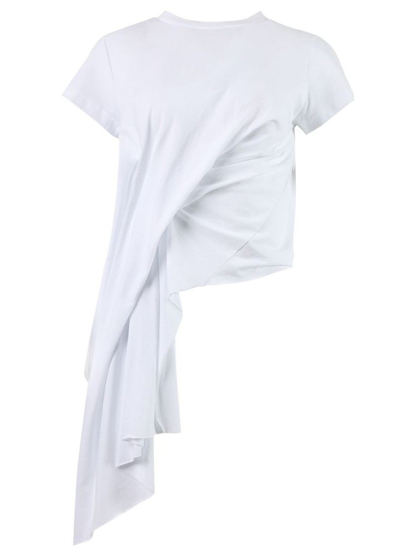 Marques' Almeida T-shirts DRAPED CAP SLEEVE T-SHIRT