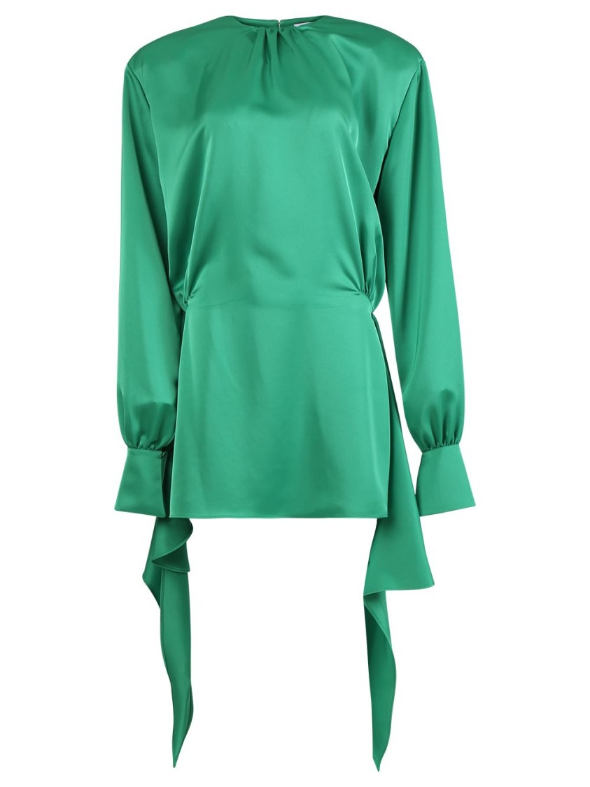 Attico EMERALD GREEN MINI DRESS