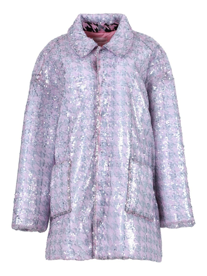 Natasha Zinko LIGHT PINK SEQUIN JACKET