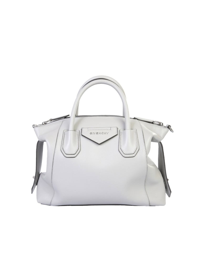 Givenchy SOFT ANTIGONA GREY LEATHER SHOULDER BAG