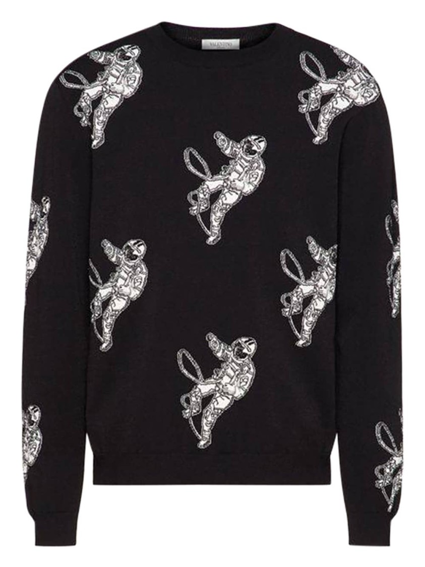 Valentino  BLACK AND WHITE ASTRONAUT SWEATER