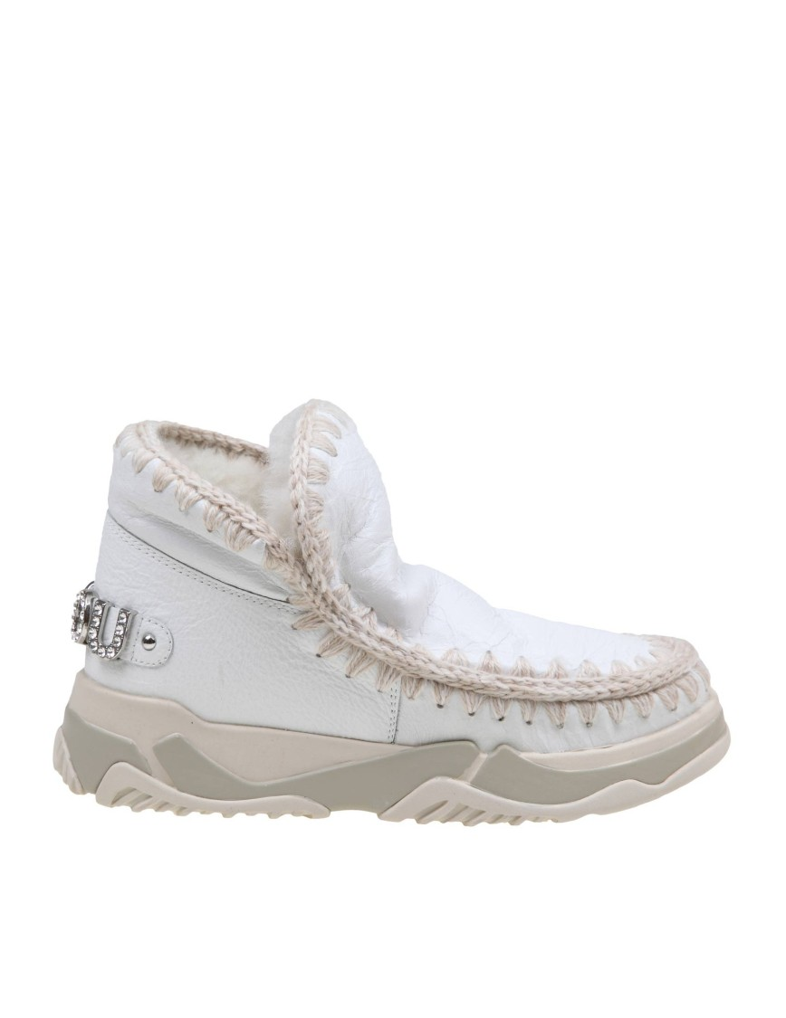 Mou SNEAKERS ESKIMO TRAINER IN WHITE LEATHER