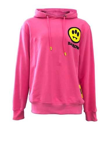 Sporty And Rich HOODED SWEATSHIRT PINK MAXI 'INVASION' PRINT