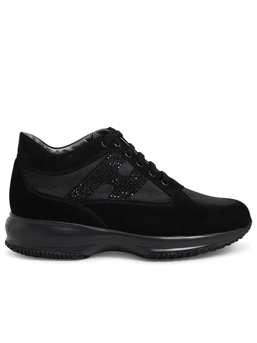 Hogan INTERACTIVE BLACK SUEDE SNEAKERS