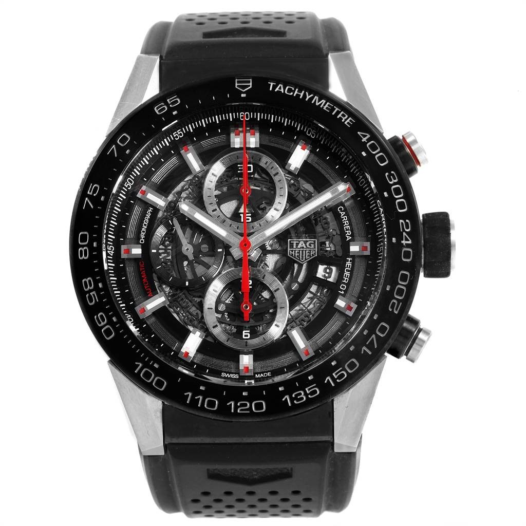 Tag Heuer TAG HEUER CARRERA CALIBRE HEUER 01 SKELETON DIAL MENS WATCH CAR2A1Z