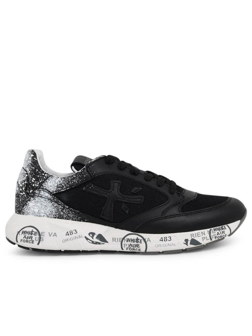 Premiata BLACK LEATHER SNEAKERS