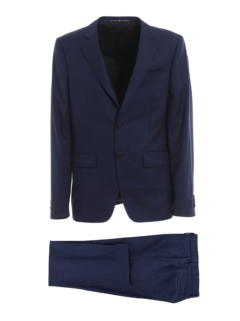 Givenchy Pinstripe Wool Suit In Blue