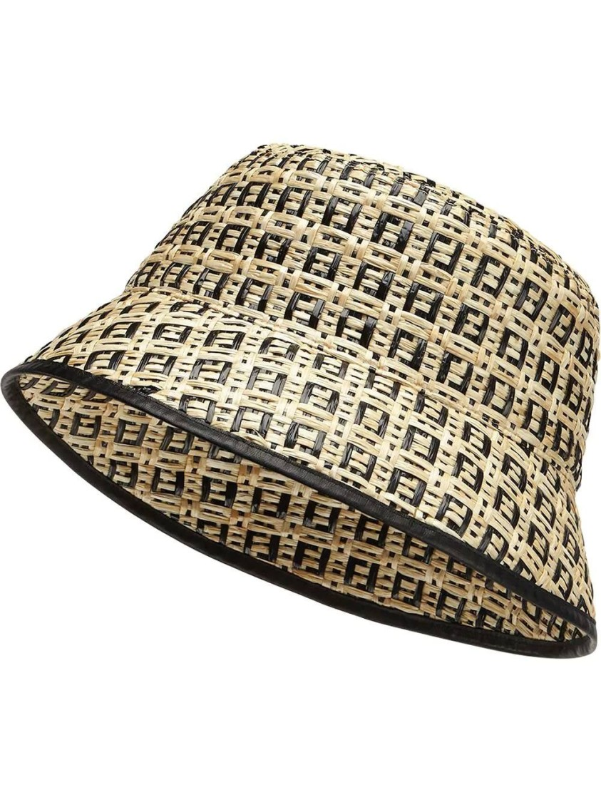 Fendi FF LOGO PRINT BUCKET HAT