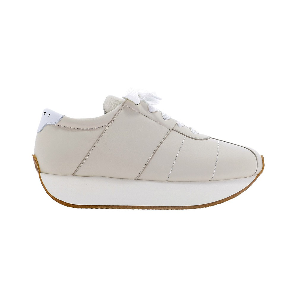 MARNI BEIGE LEATHER SNEAKERS